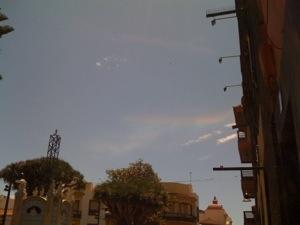 Curioso fenómeno óptico en el cielo de La Laguna: arco circunhorizontal