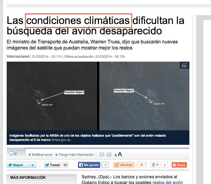 error condiciones climáticas